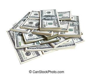 lots of dollar bills - lots of hundred american dollar...