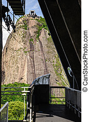 View of the sugarloaf in Rio de Janeiro - Sugarloaf Mountain...