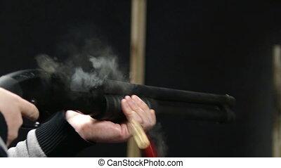 HD - Shot with a shotgun