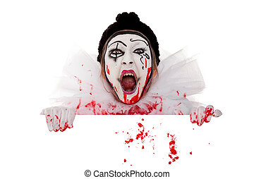 wicked bloody clown screams over the edge - wicked bloody...