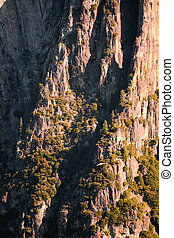 Rock formations in a valley