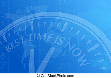Best time is now vector background illustration