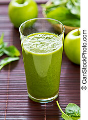Spinach and apple smoothie - Spinach with Green apple ,and...