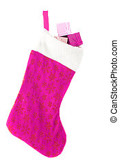 christmas stocking - stuffed festive christmas stocking...