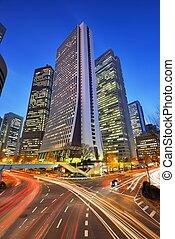 Shinjuku, Tokyo - Office buildings in Shinjuku, Tokyo, Japan...