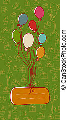 Greeting card with place for text