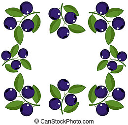 Blueberry frame. Vector illutration