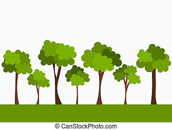 Trees. Vector illustration
