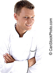 young chef posing with his arms crossed