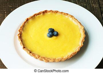 Lemon Tart - Fresh Meyer Lemon tart with golden pastry crust...
