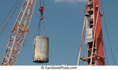 lifting cargo by crane