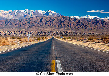 Scenic road in northern Argentina - A scenic road in...