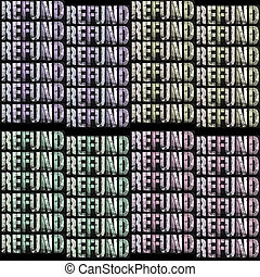 Tax Refund - Tax Phrase Block Letters Filled With Image of...