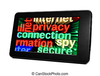 Privacy connection word cloud