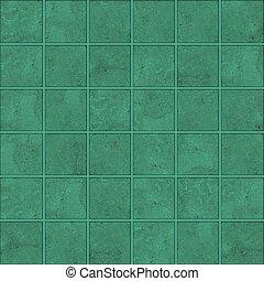 mönster, grön, mosaik