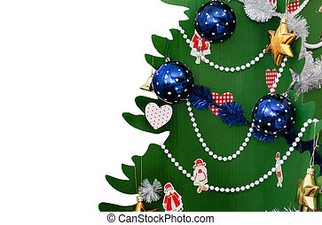 Christmas tree, New Year eve - Christmas tree isolated on...