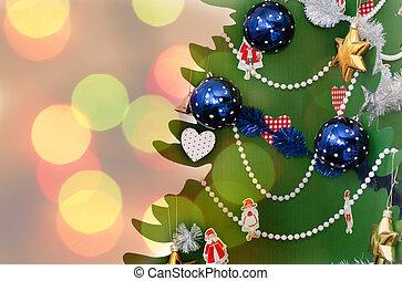Christmas tree, New Year eve, Xmas celebration