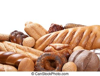bakery on foreground ower white