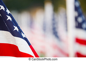 US flags star spangled banner detail with copyspace, ideal...