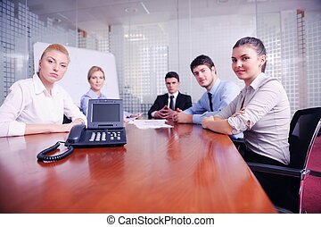 empresa / negocio, gente, vídeo, reunión