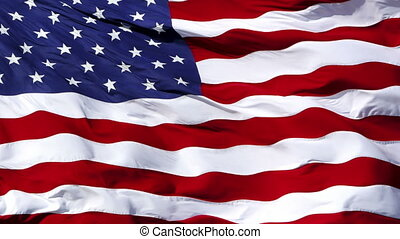 American flag - 1080p: USA flag waving