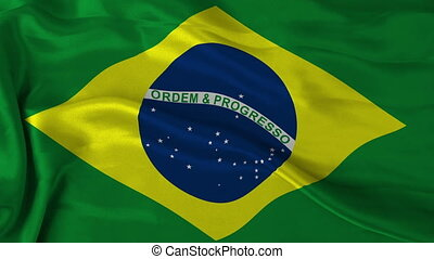 Brazilan flag - 1080p: The flag of Brazil waving