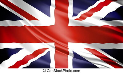 United Kingdom Flag - 1080p: UKs Union Jack waving