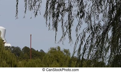BeiJing BeiHai Park White Tower and Tibetan Buddhismwillow...
