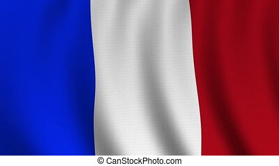 French flag - 1080p: The flag of France waving