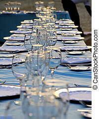 Tropical wedding place setting 12 - Exterior place setting...