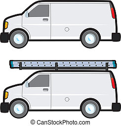 Work Van - A plain white generic work van typically used by...