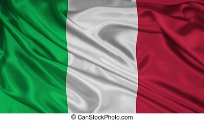 Italian flag - 1080p: The flag of Italy waving