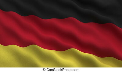German flag - 1080p: The flag of Germany waving