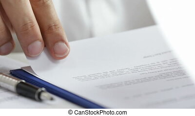 Contract signing - HD1080p: businessman signing a contract....