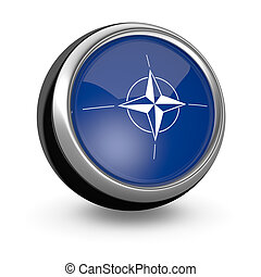 flag of Nato - one sphere icon with the flag of Nato (3d...