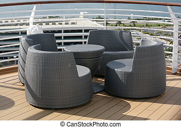 Outdoor chairs with a beautiful view