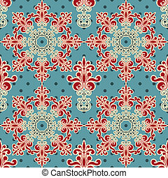 Vector Seamless Floral Wallpaper Pattern - vector seamless...