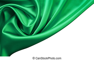 Emerald satin or silk background