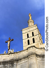 The Popes Palace in Avignon, France: Notre-Dame des Doms...