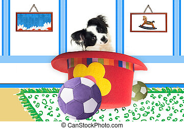 puppy nursery decor photo