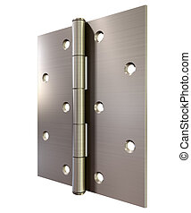 Metal Door Hinge Front - A regular open brushed metal door...