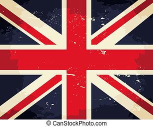 Vintage UK Flag - Vintage Union Jack flag.
