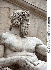 Rome - Sculpture of Tiber river in the Capitolium