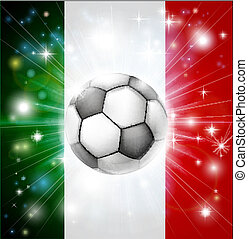 Italy soccer flag - Flag of Italy soccer background with...