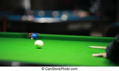 Snooker - Playing snooker