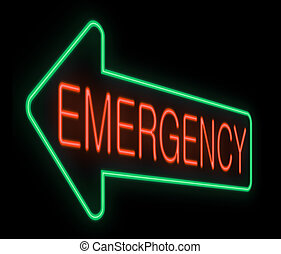 Emergency sign.