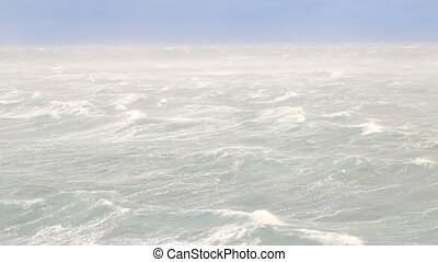 strong wind near Novaya Zemlya. Rus