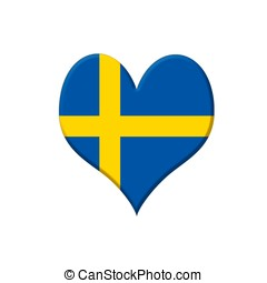 Sweden heart. - Illustration with a Sweden heart on white...