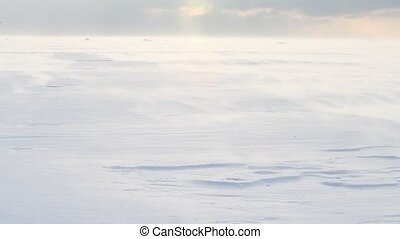 winter storm on the sea - winter storm on the Baltic Sea