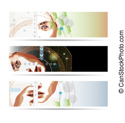 High-tech style illustrated banner